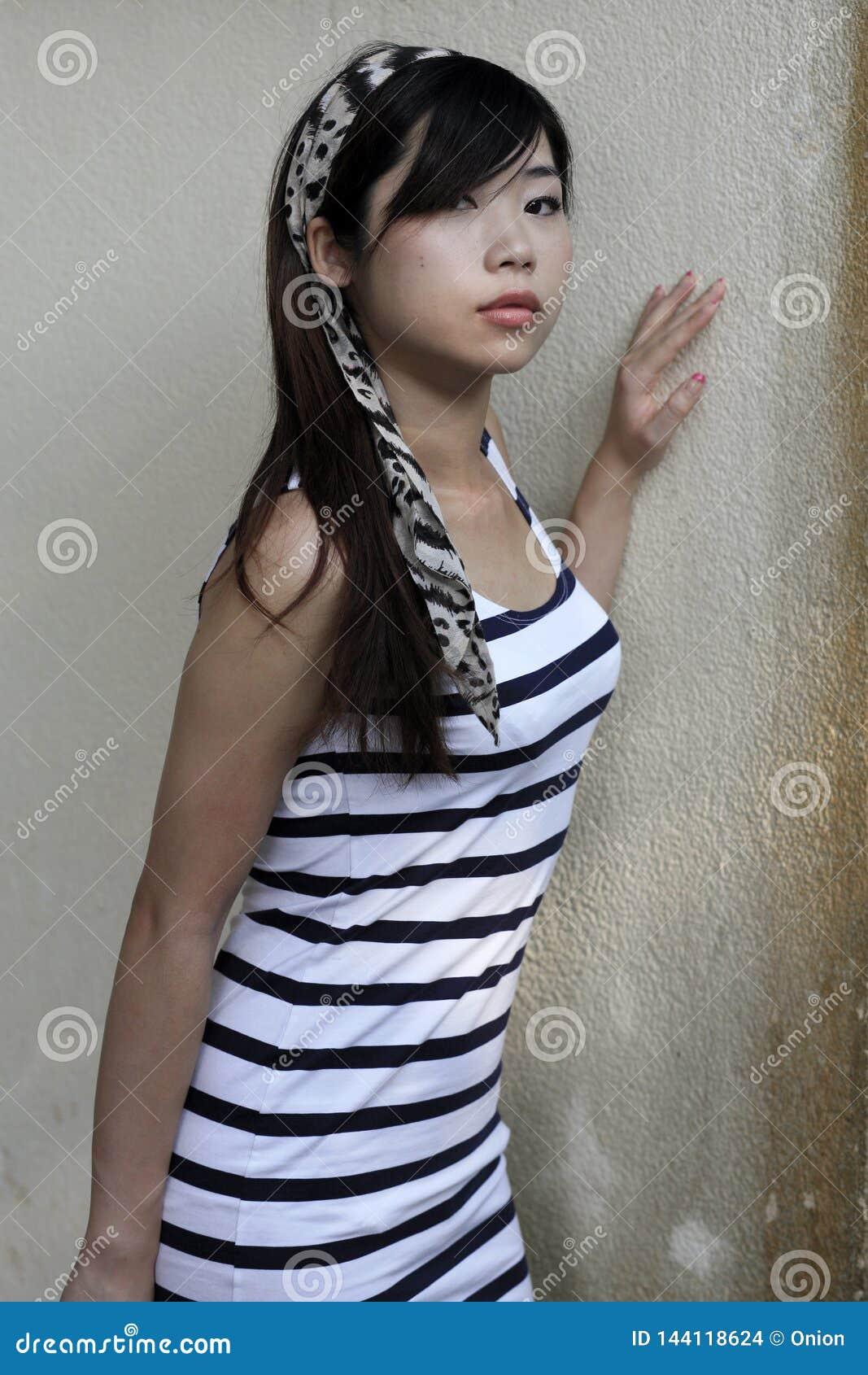 view women Asian of a