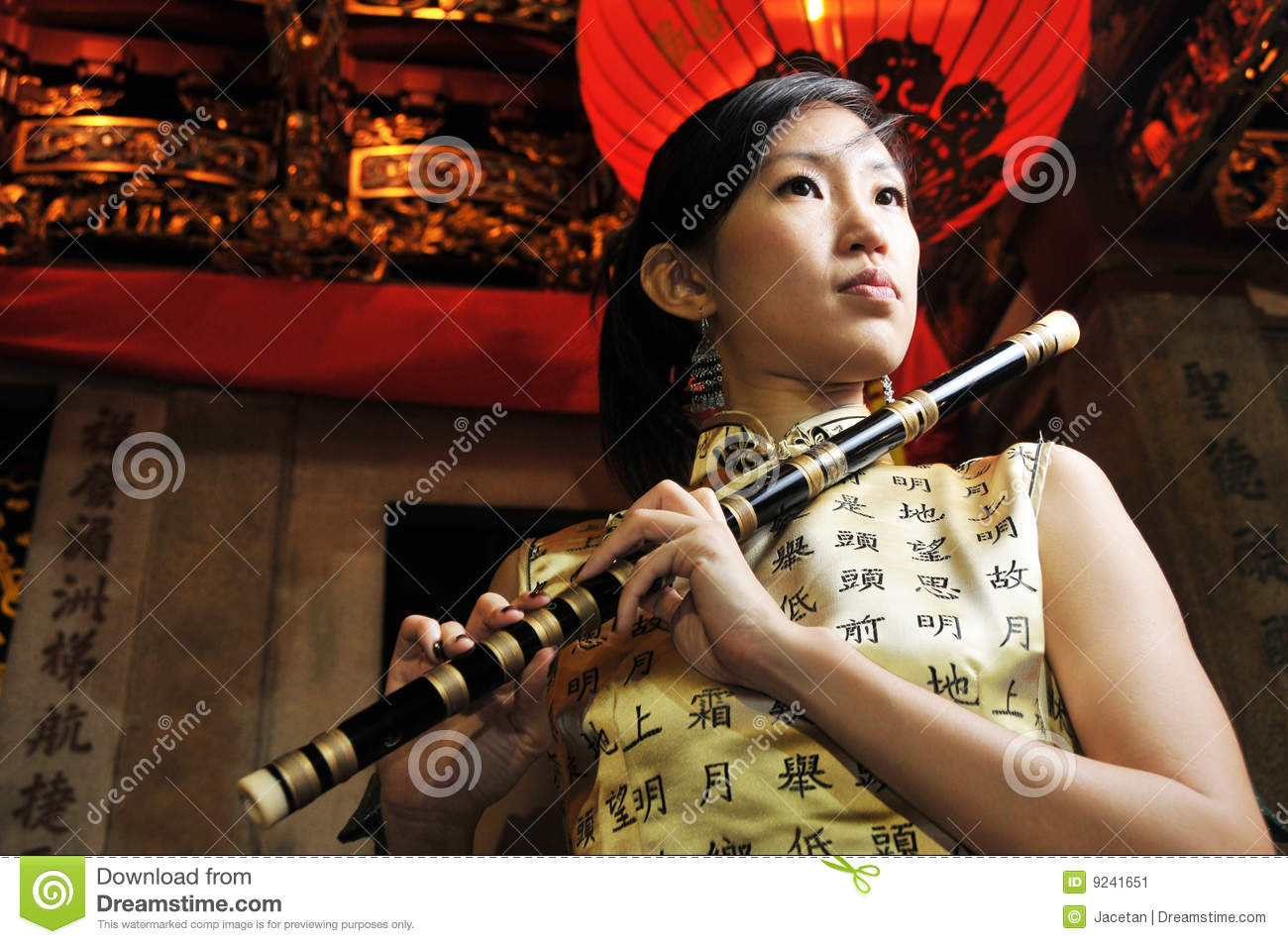 Rapids Fun asian playing flute large frequencies
