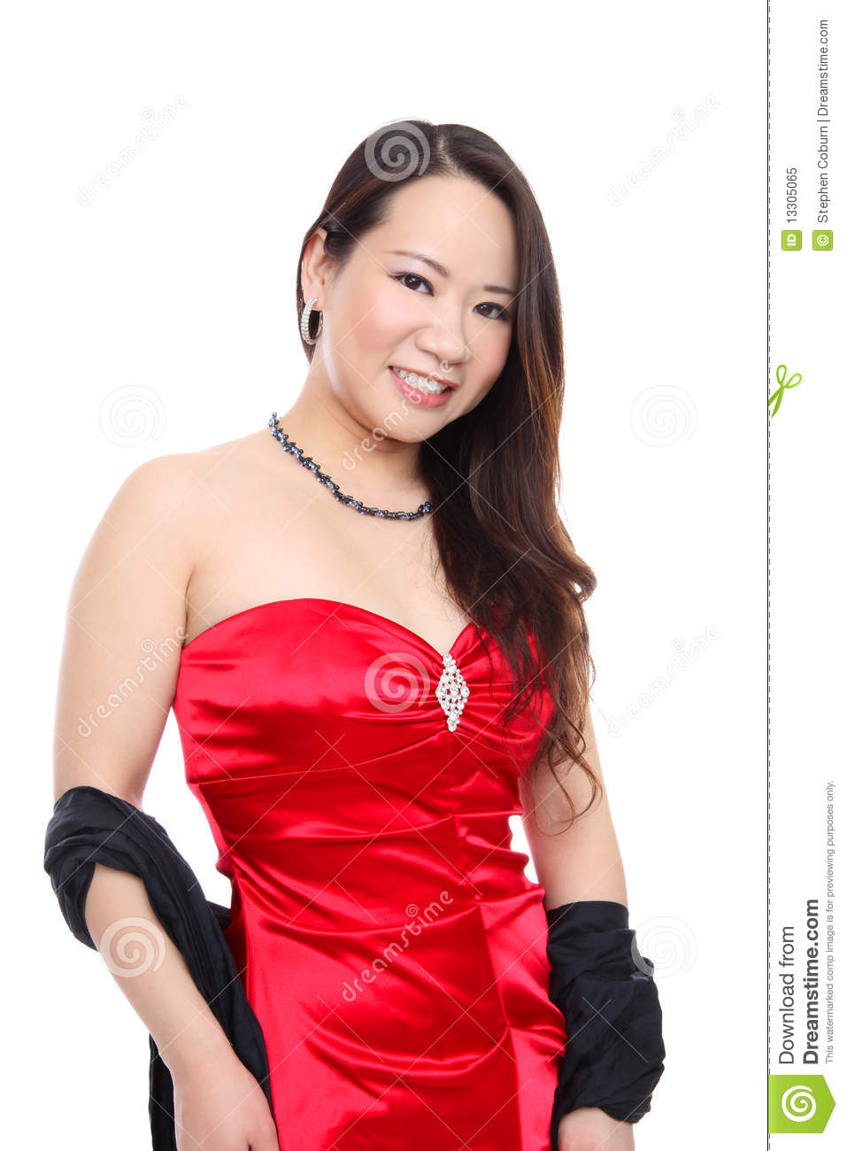 Asian Woman Asian Women Red 57