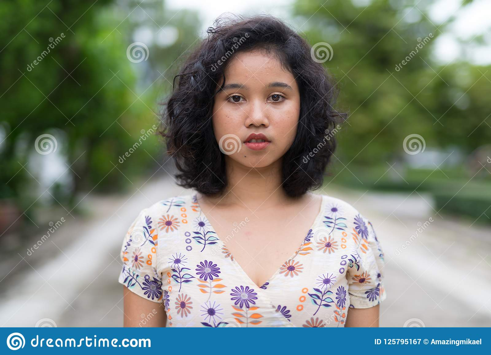 4 205 Young Beautiful Asian Woman Curly Hair Photos Free Royalty Free Stock Photos From Dreamstime