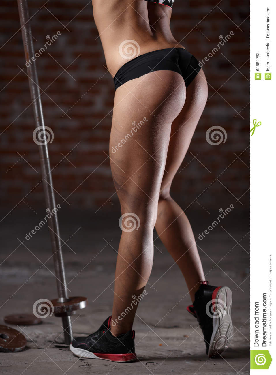 beautiful athletic buttocks close-up stock image - image of isolated