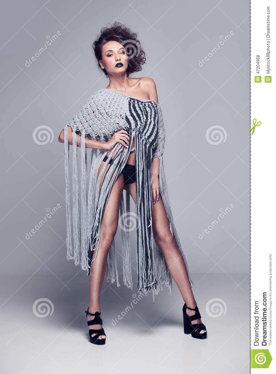 sweater Nude woman wearing