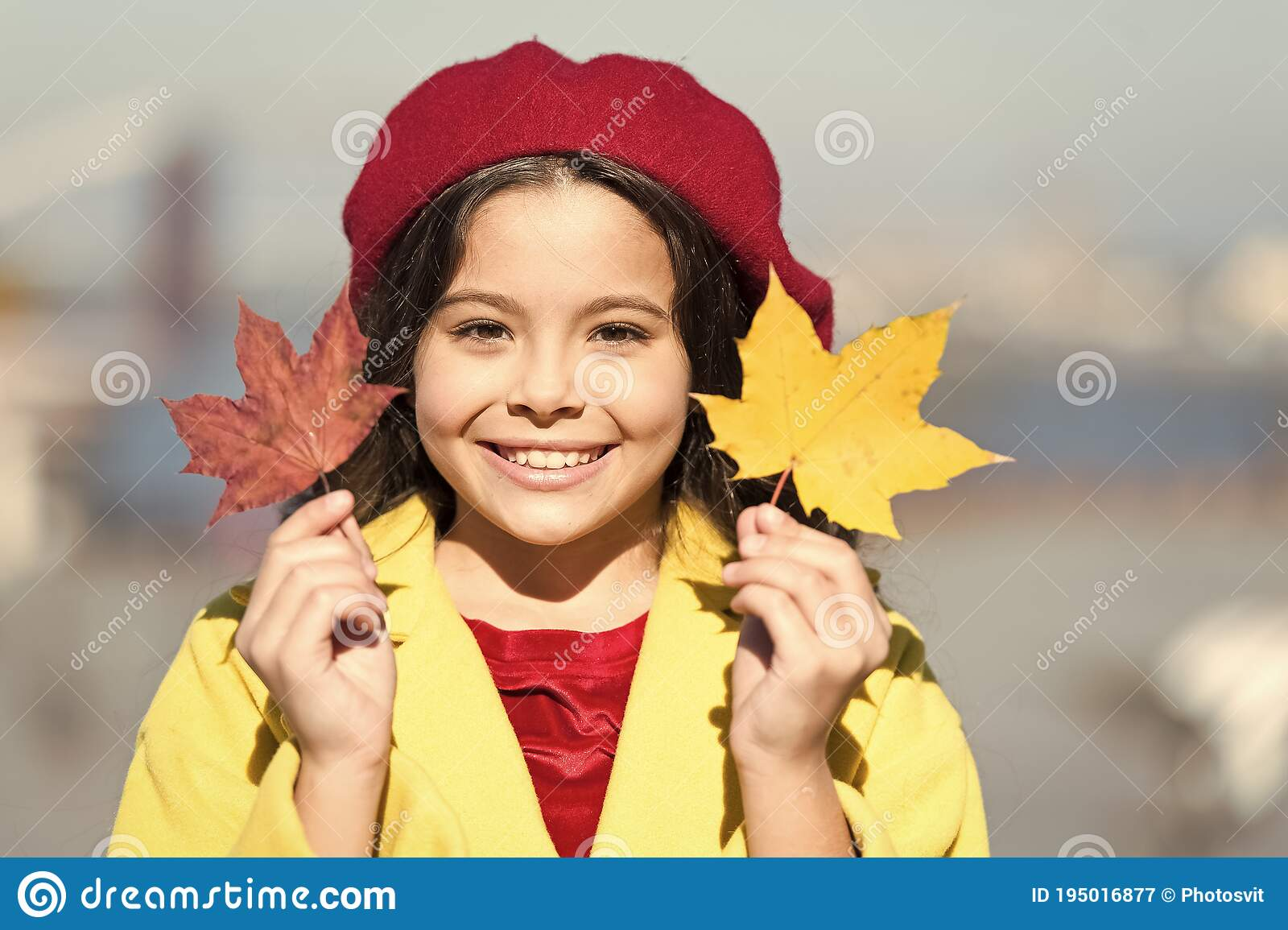 So Beautiful. Autumn Kid Fashion. Child Maple Leaf. Kid In French ...