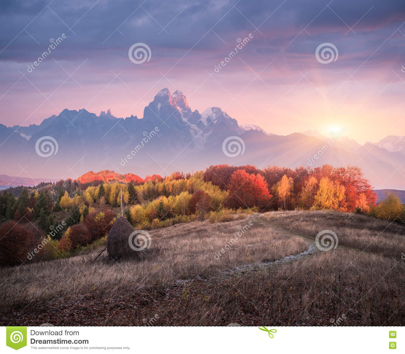 Beautiful Landscape Autumn Stock Image Cartoondealer