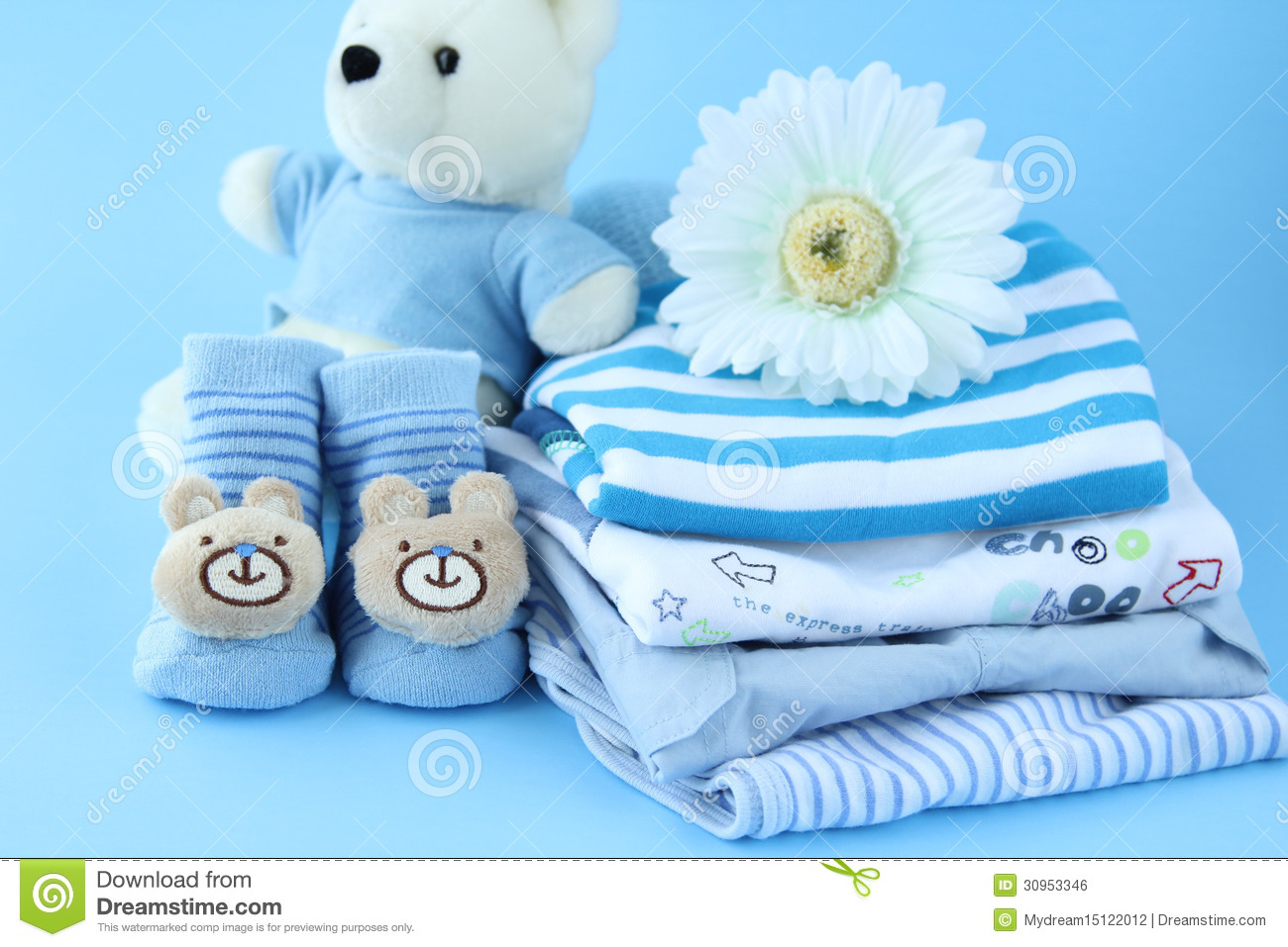 Beautiful Baby Boy Clothes Royalty Free Stock Image