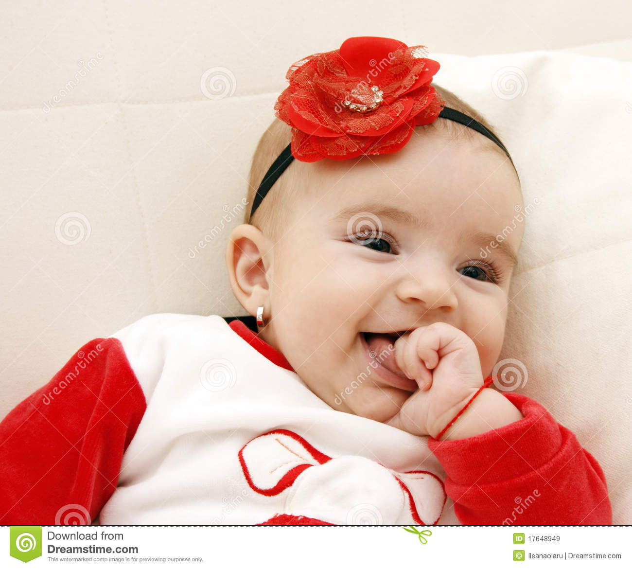 beautiful baby girl stock image. image of joyful, adorable - 17648949