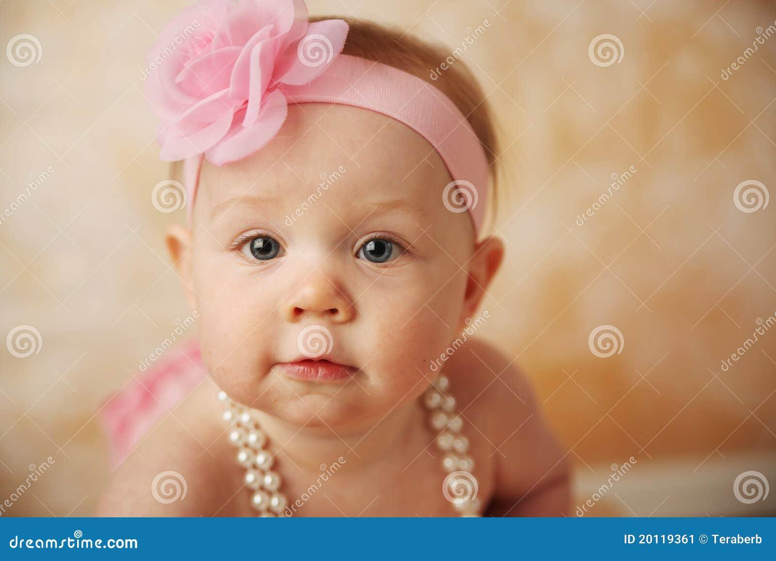 beautiful baby girl stock image - image: 20119361