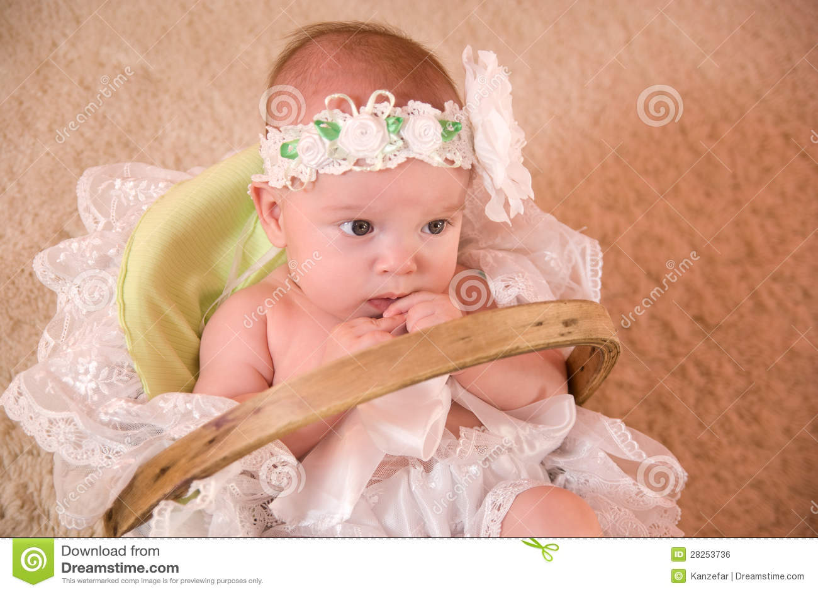 A Beautiful Baby Girl Stock Photo. Image Of Girl, Portrait