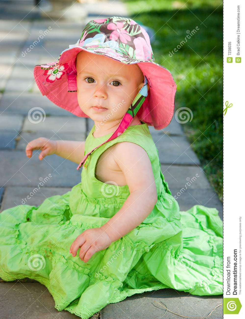 beautiful baby girl stock image. image of cute, posing - 7238035