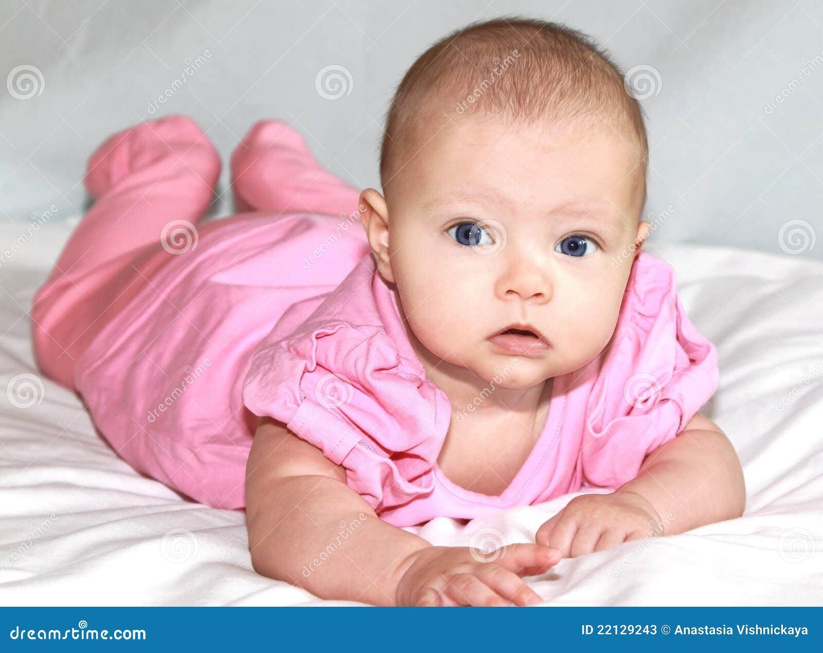 Beautiful Baby Girl Lying Stock Photos Image 22129243