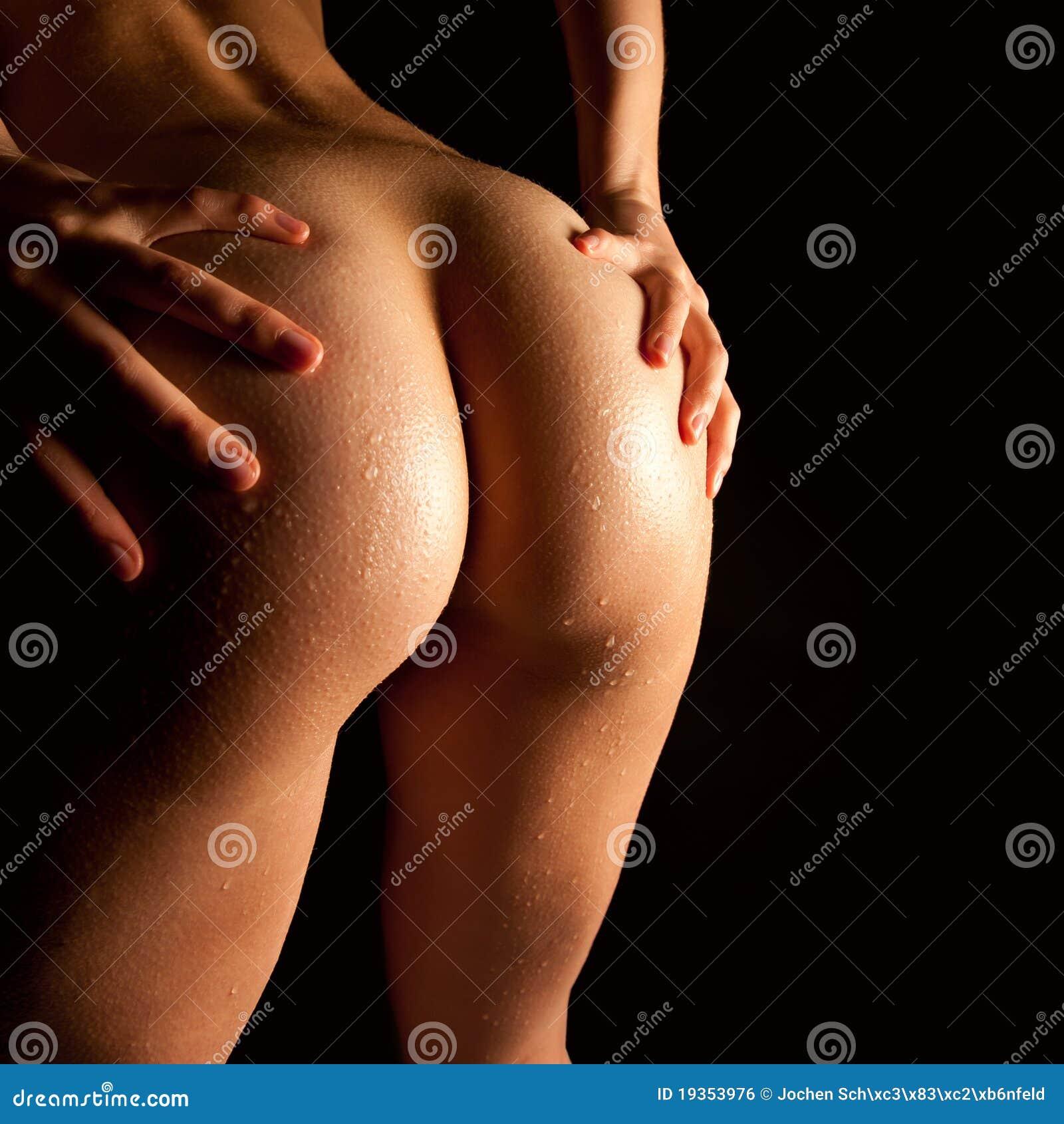 Wet nude body