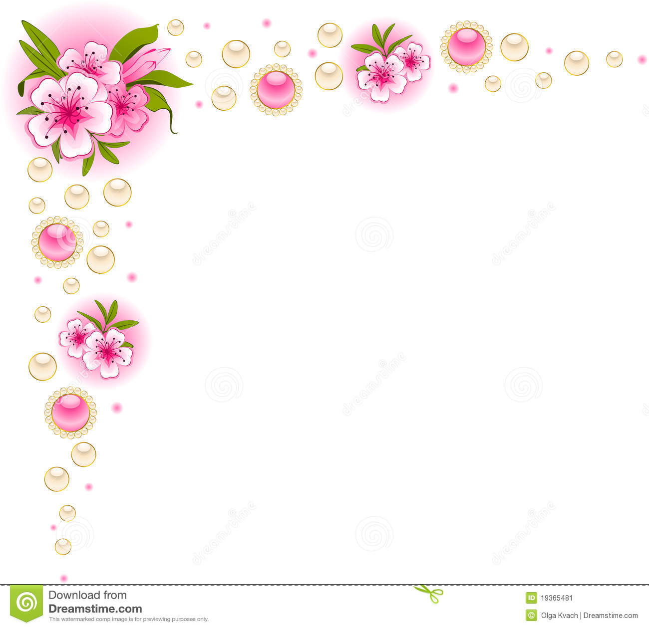 Beautiful Background With Flowers Stock Vector Illustration Of