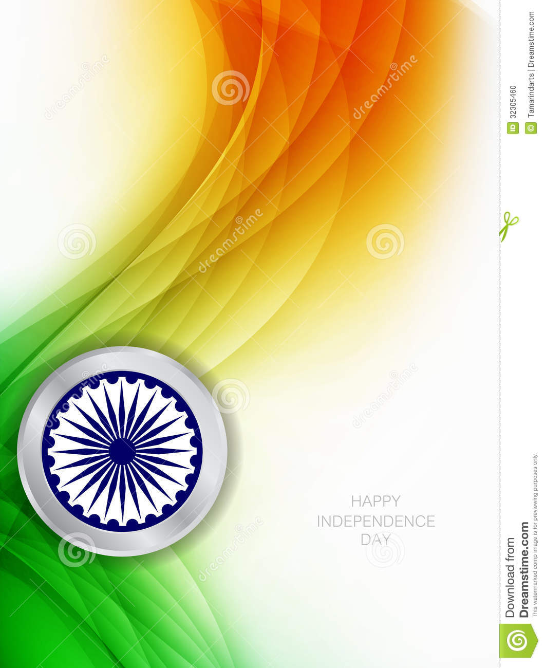 Beautiful Background For Indian Independence Day Illustration