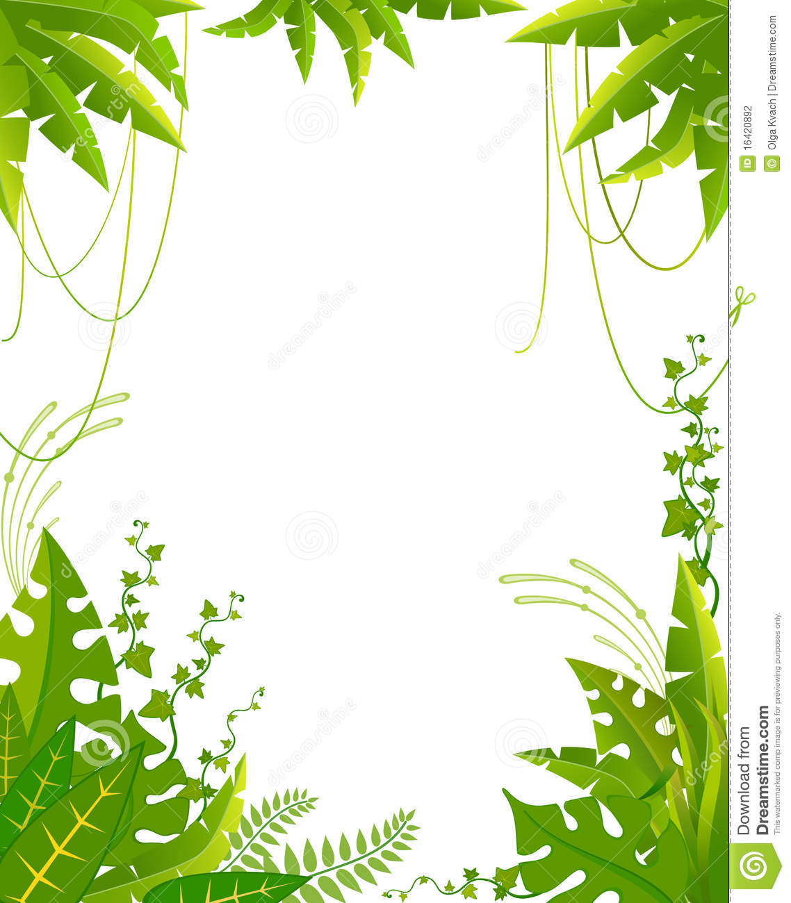 Beautiful Background With Tropical Plants Stock