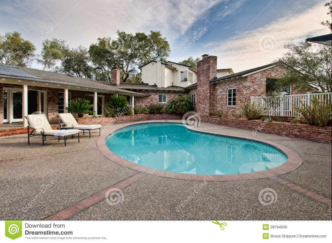 Pictures Of Beautiful Backyard Pools : Beautiful Backyard Pool Stock Photo  Image 28794030