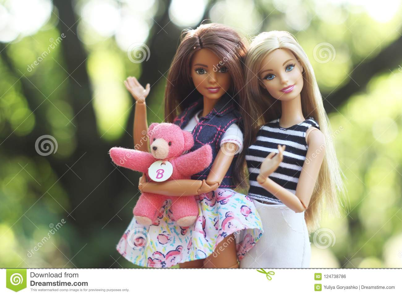 A Beautiful Barbie With White And Brown Hair Stylish Blondy Doll Editorial Use Only Editorial Photo Image Of Brown Cute 124738786