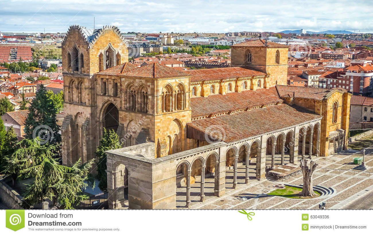 Beautiful Basilica De San Vicente Avila Castilla Y Leon Spain Stock Photo Image Of Church Historic 63049336