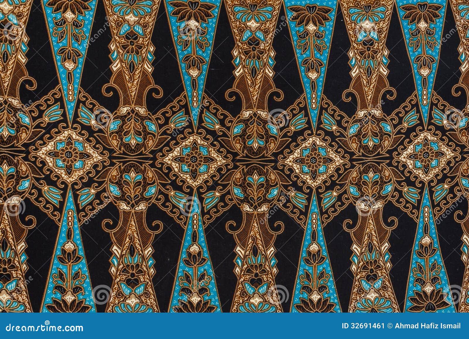 Beautiful Batik Pattern stock image. Image of textile