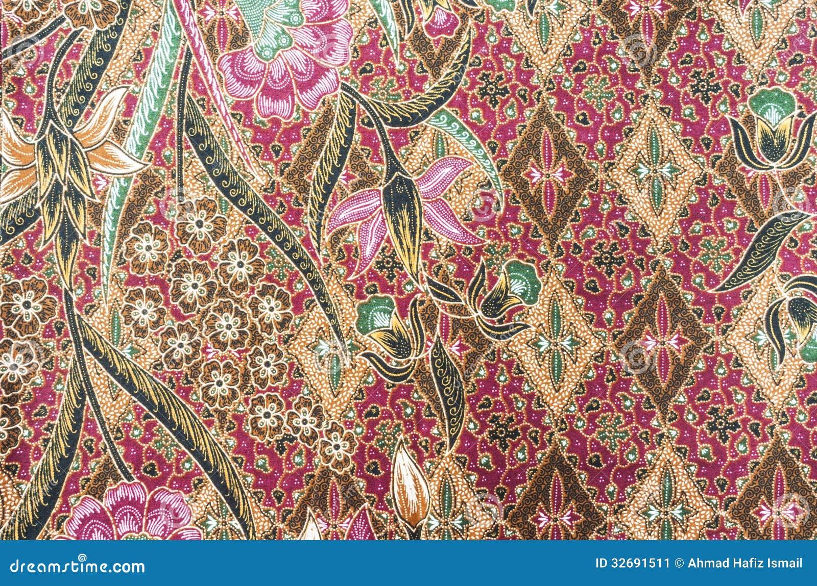 Beautiful Batik Pattern Stock Image Image Of Thai Design