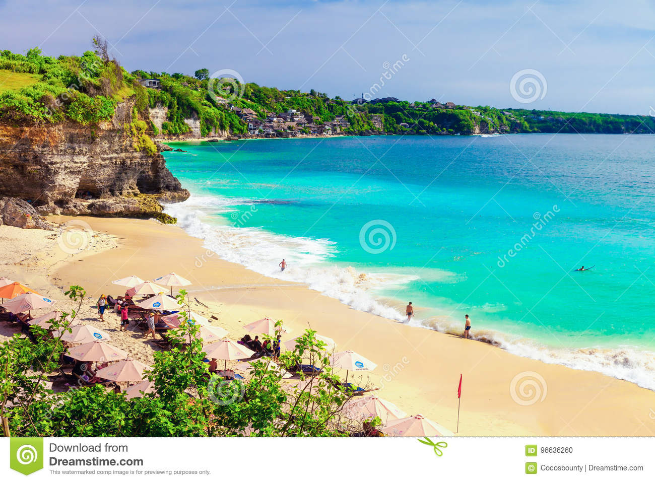 Beautiful Beach In Bali Island Indonesia Editorial Image Image Of