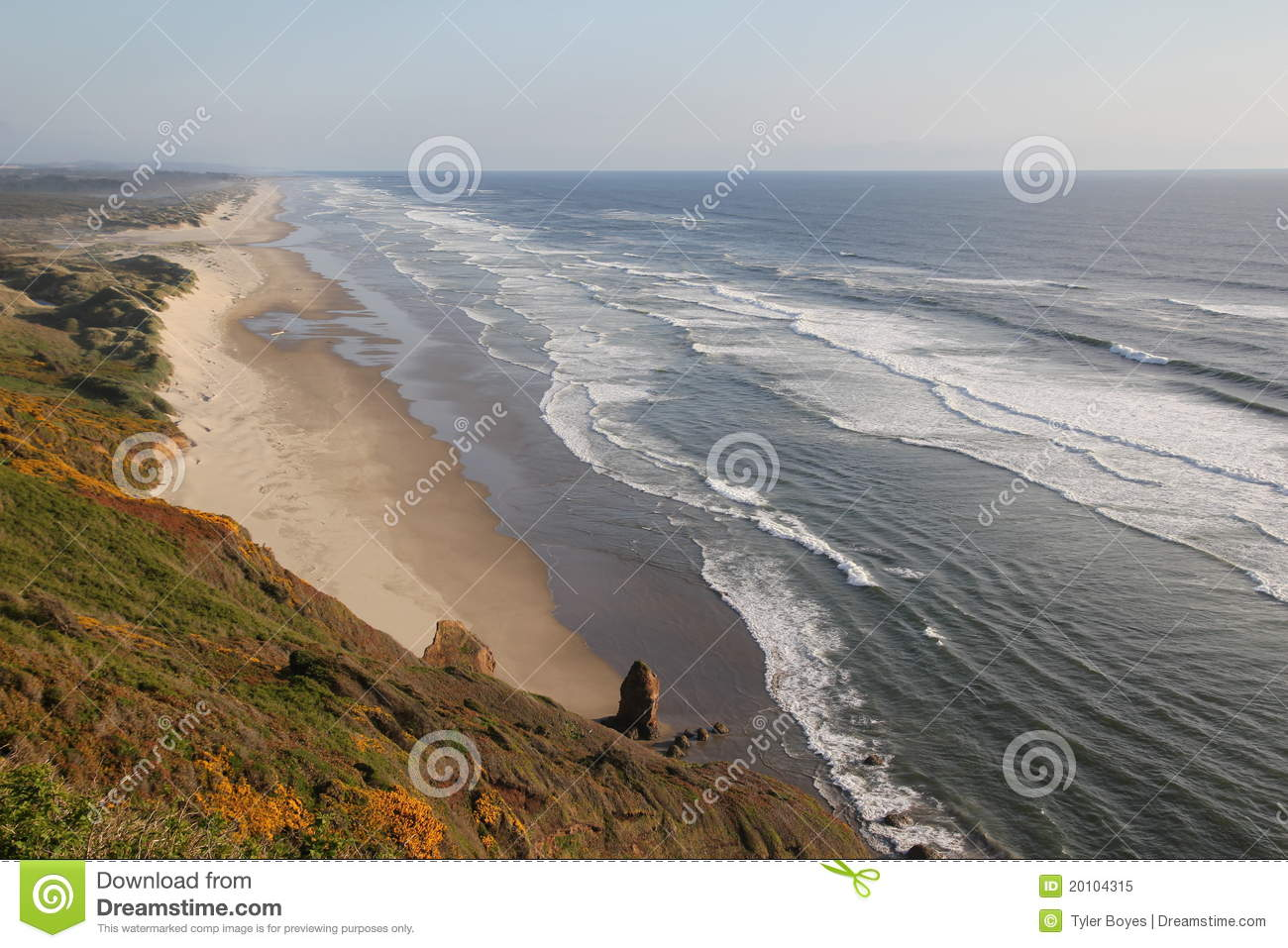 Beautiful beach in california royalty free stock photo for Pretty beaches in california