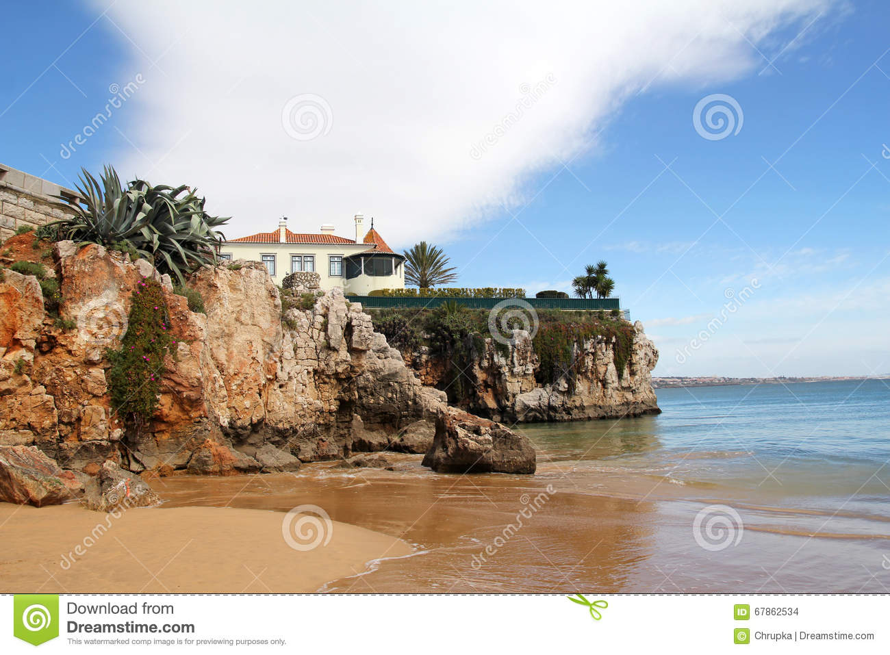 beautiful in cascais portugal stock photo image