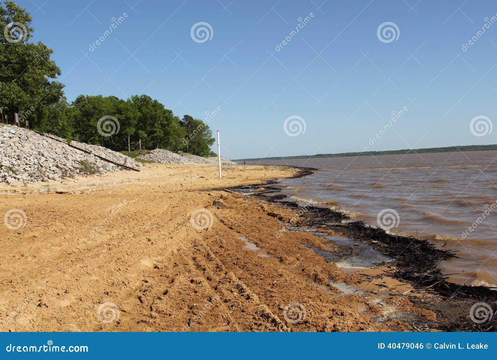 Arkabutla lake and beach stock photo image 40479046 for Lake front view