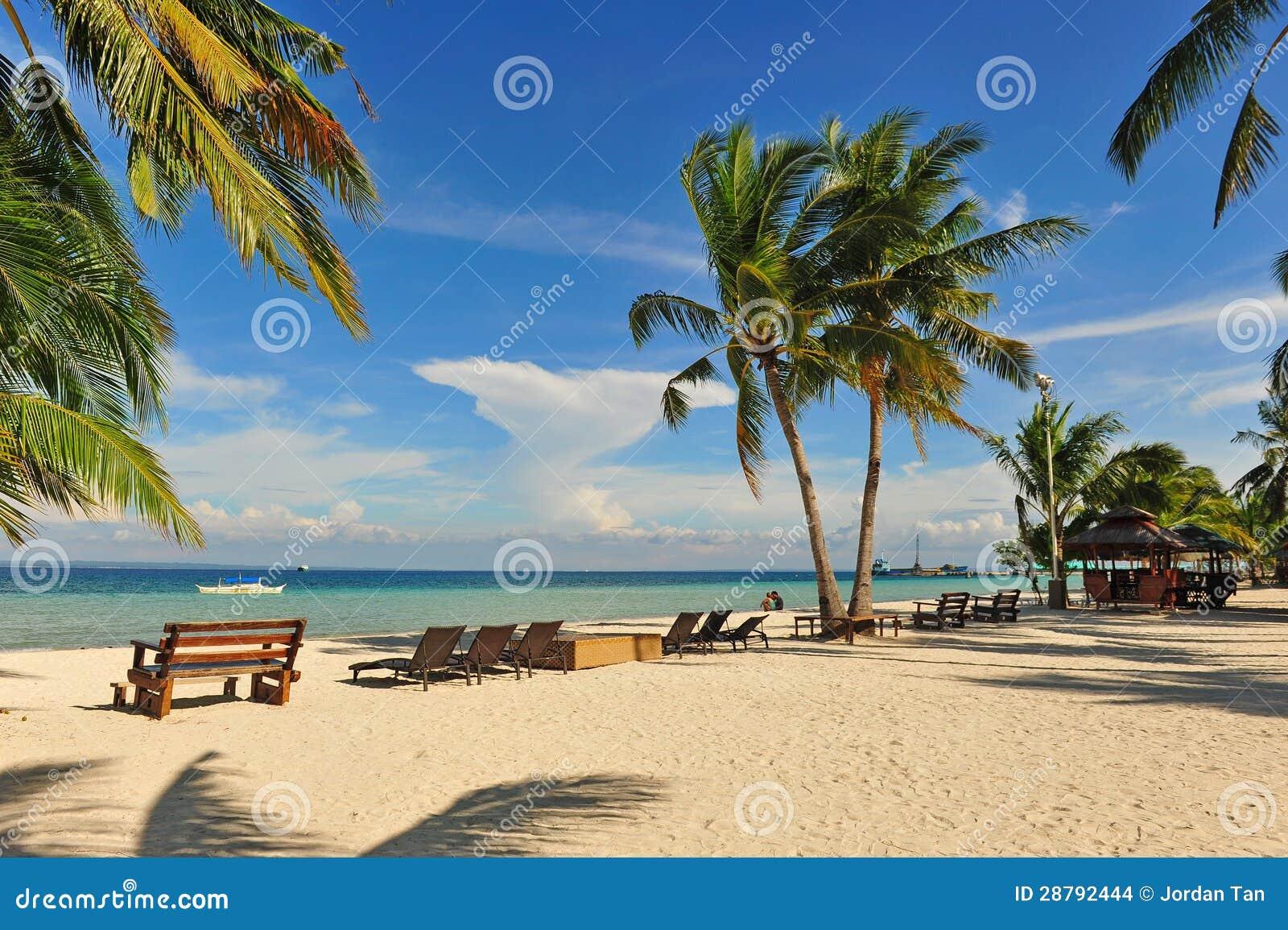 Palm Beach Tan Prices >> Beautiful Beach Resort At Bantayan Island, Cebu Stock Photo - Image: 28792444