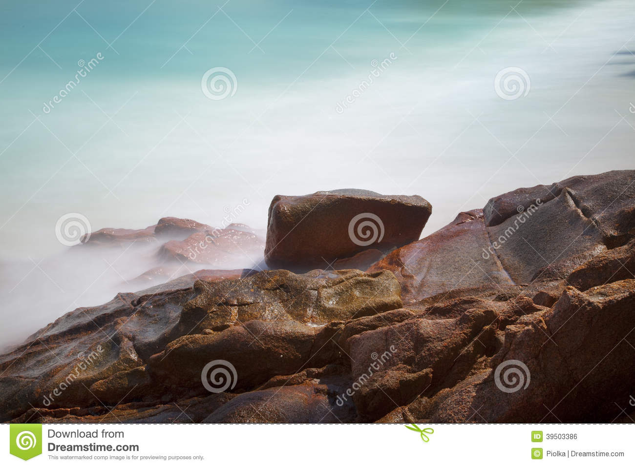 Beautiful beach with rocks