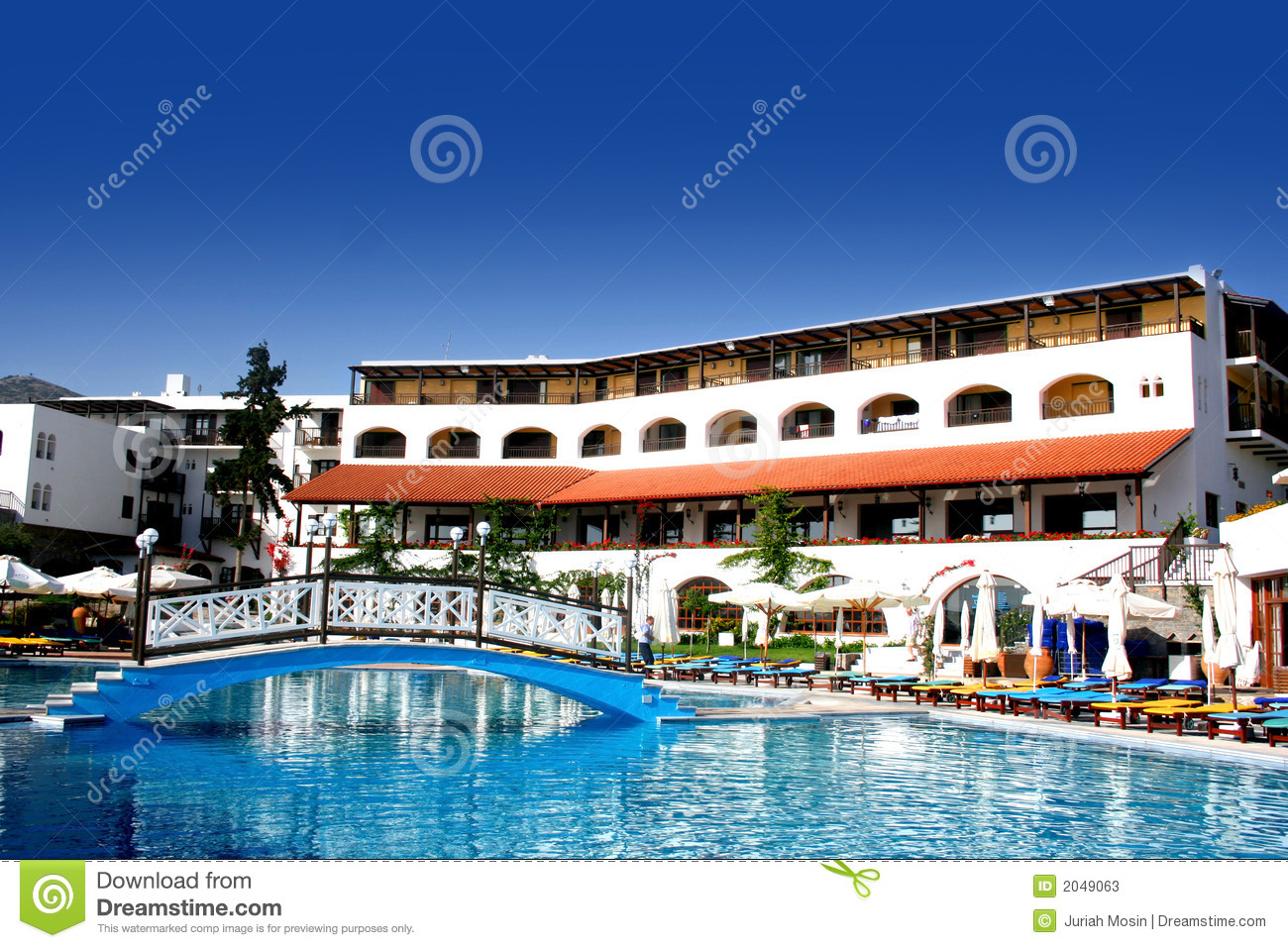 Beautiful beach side resort hotel in crete greece stock for Beautiful hotels