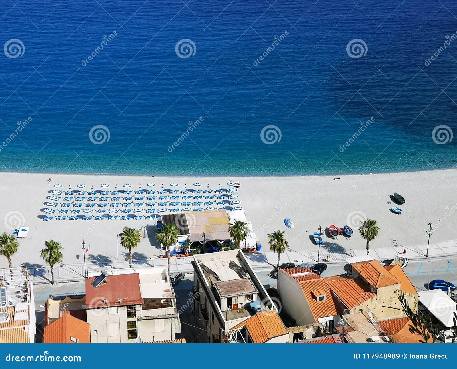 beach town of Scilla, Italy
