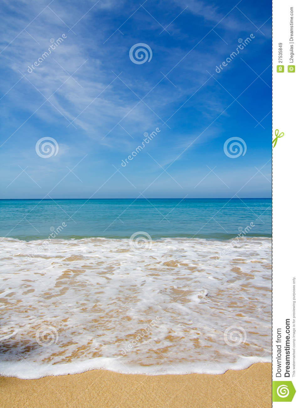 Beautiful Beach Vertical Royalty Free Stock Images