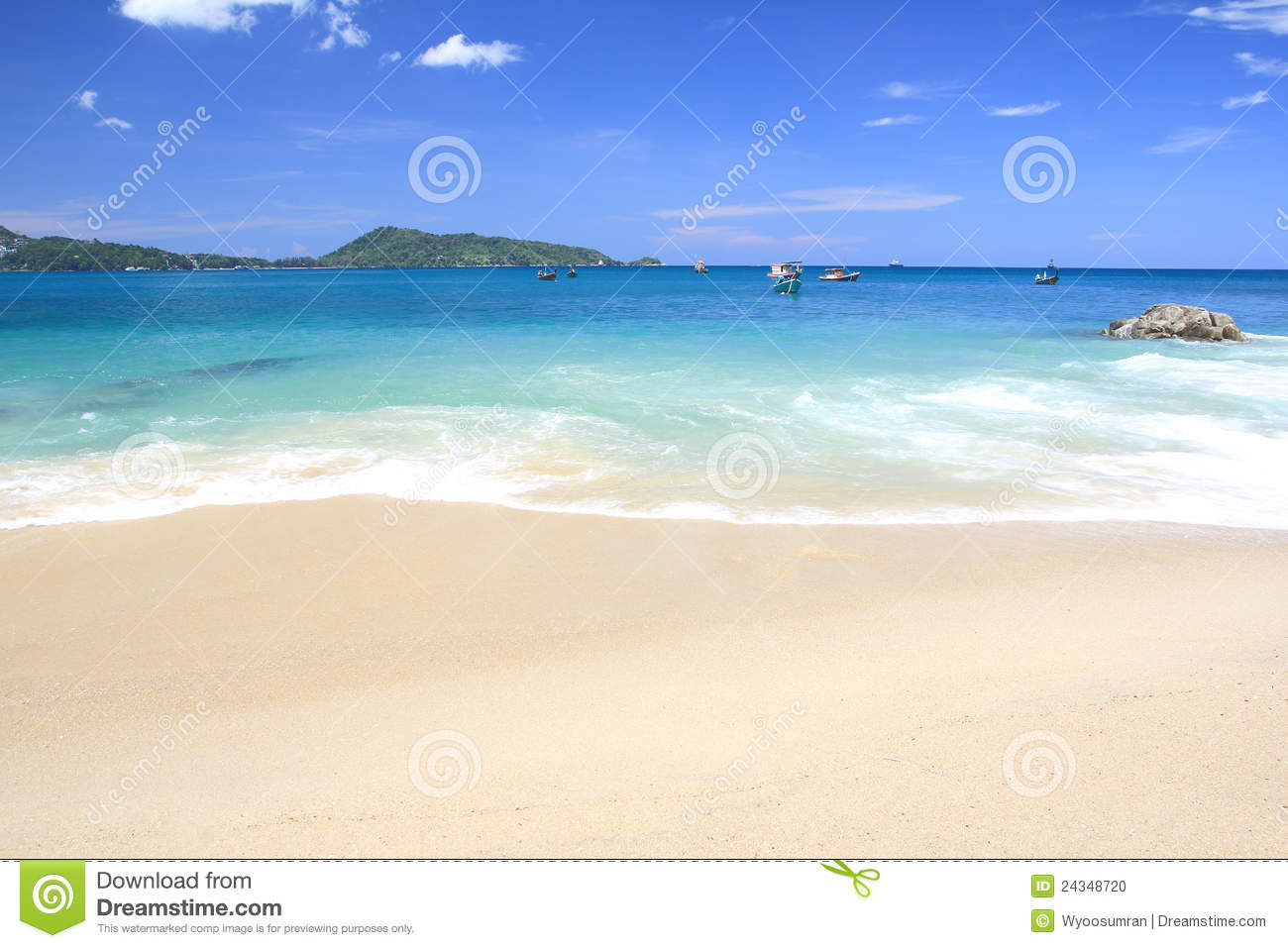 Beautiful Beach Waves Stock Photo - Image: 24348720