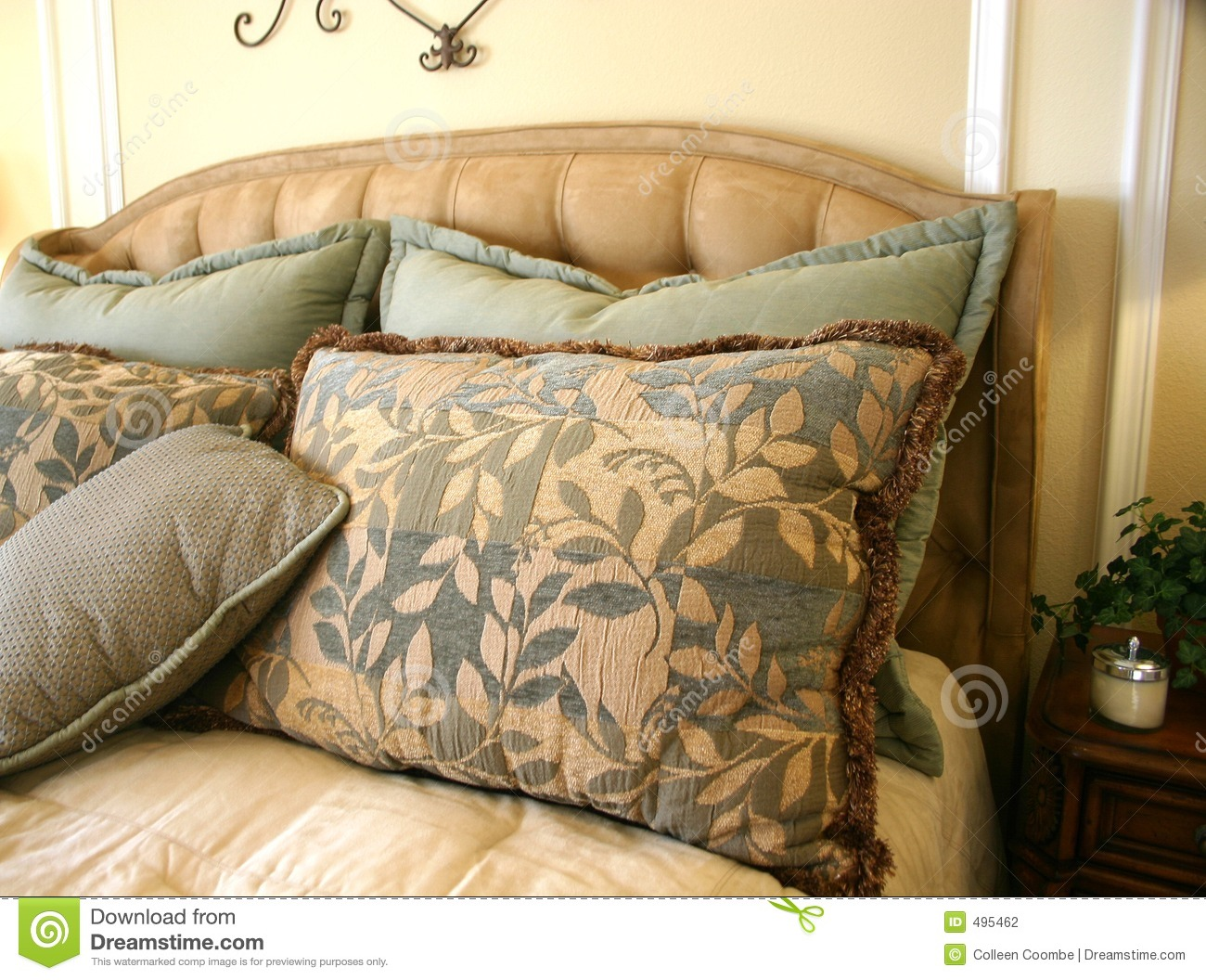Beautiful Bed Pillows Stock Photography Image 495462