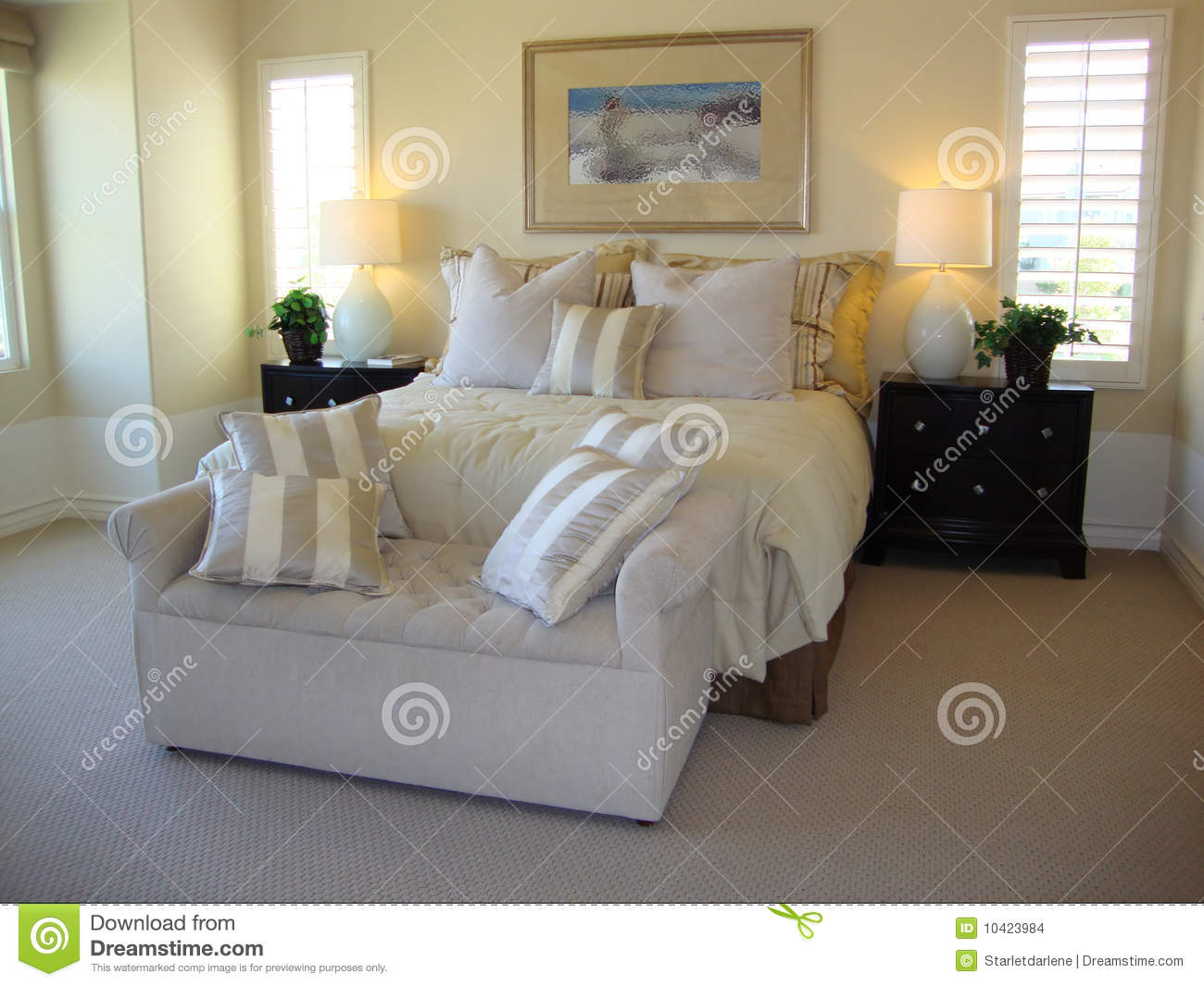 Beautiful bed room stock images image 10423984 - Seat at foot of bed ...