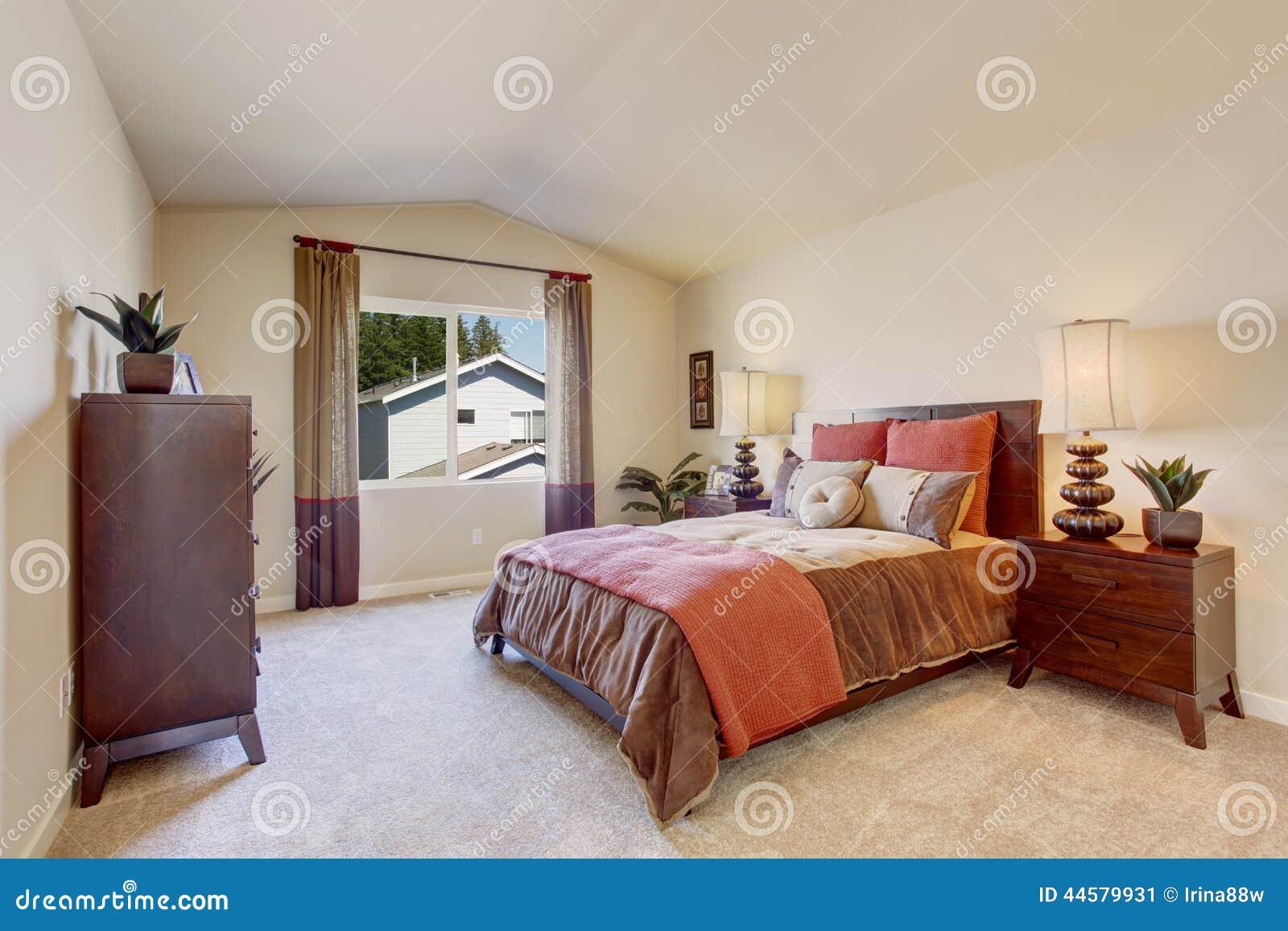 Beautiful Bright Bedroom Royalty Free Stock Photo 38627403
