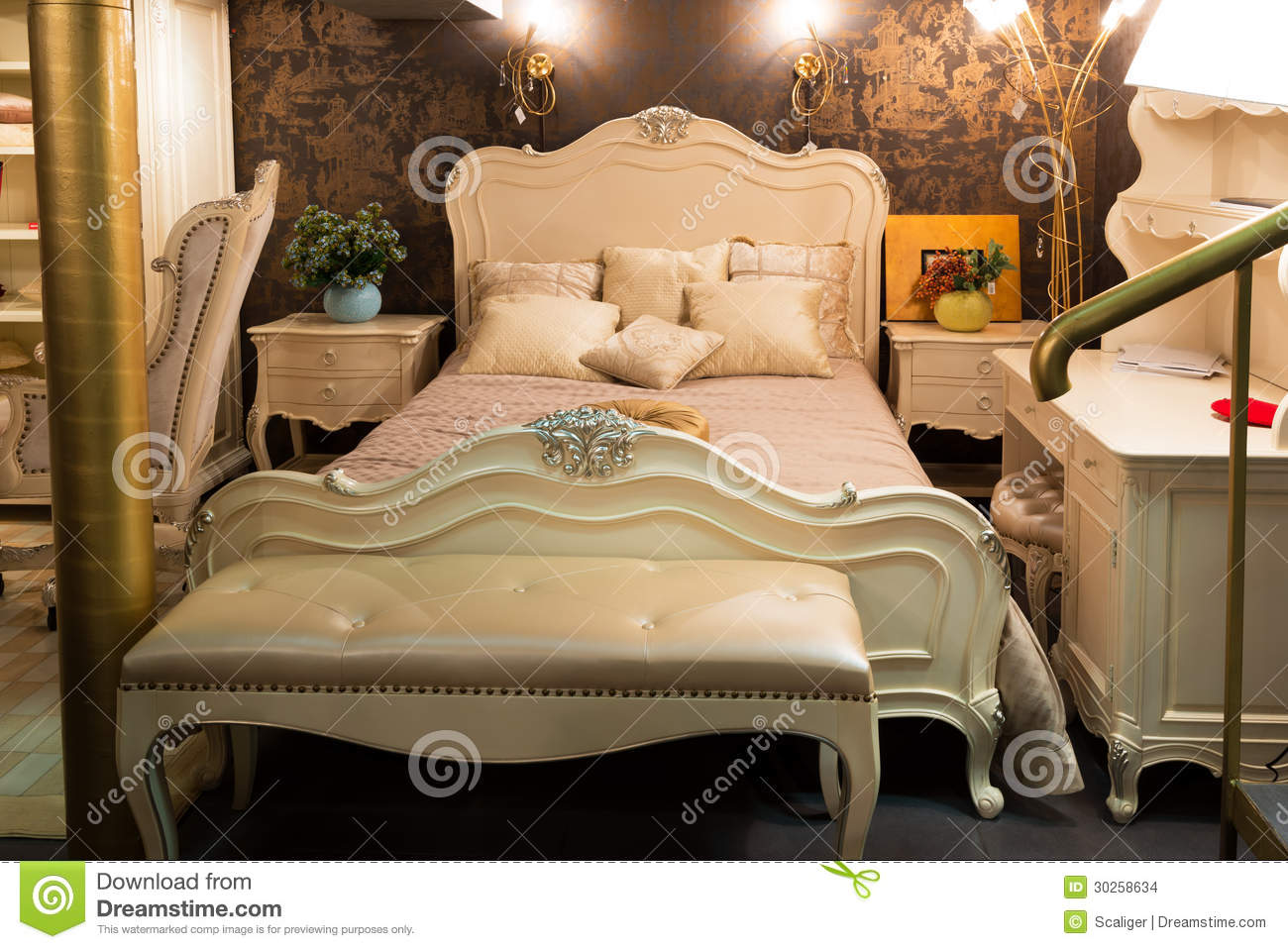 Bedroom In A Furniture Store Stock Images - Image: 30258634