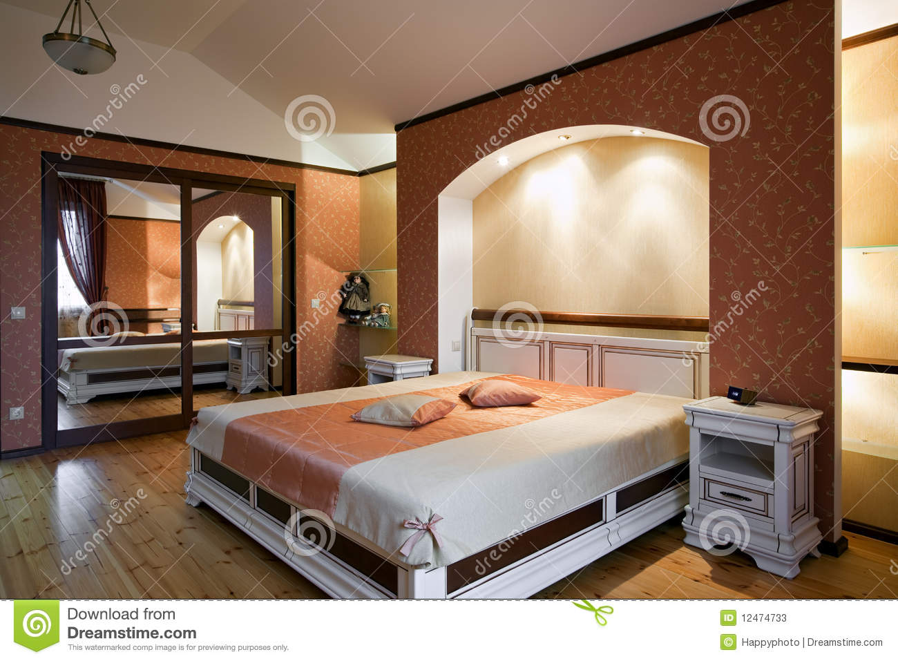 Beautiful bedroom interior stock photos image 12474733 for Beautiful bedroom interior