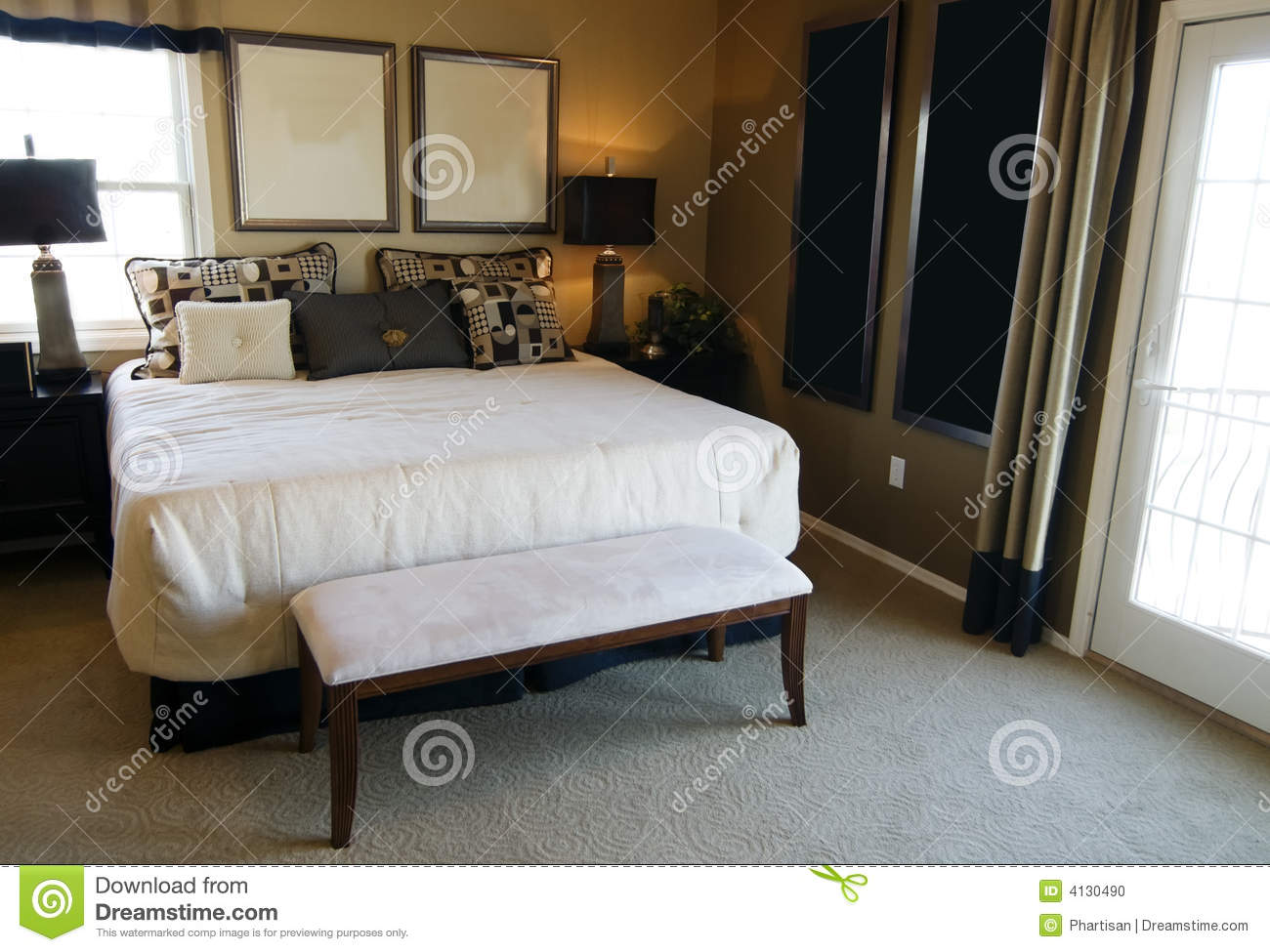 Beautiful bedroom interior design stock photo image 4130490 for Beautiful bedroom interior