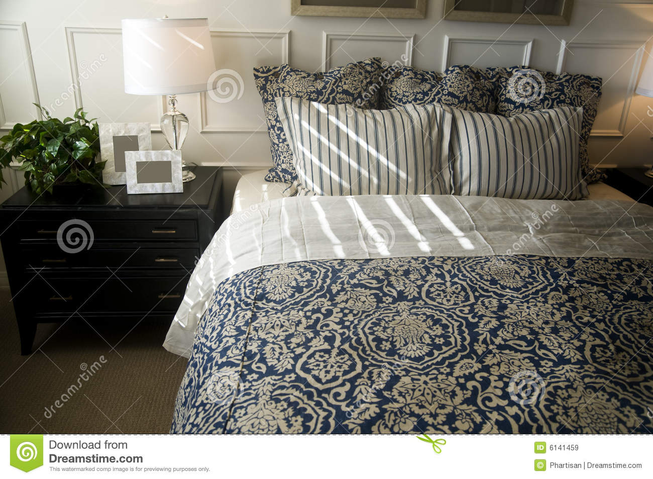 Beautiful bedroom interior design royalty free stock photo for Beautiful bedroom interior