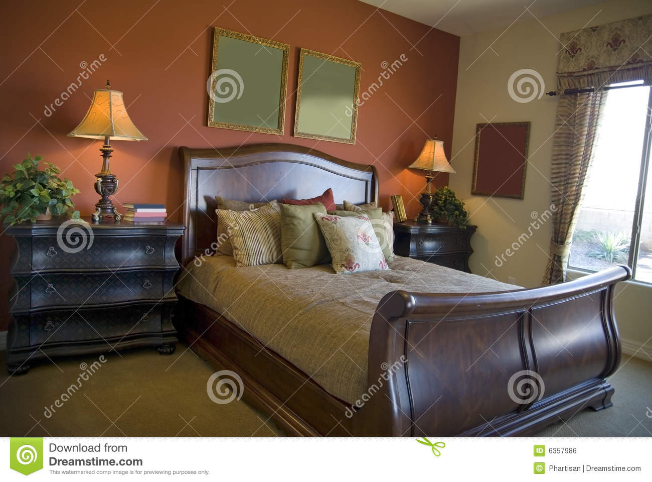 Beautiful bedroom interior design royalty free stock image for Beautiful rooms interior design