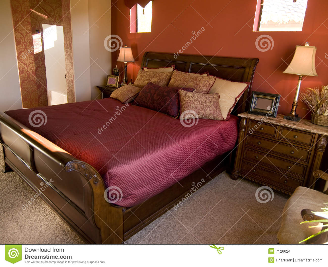 Beautiful bedroom interior design stock images image for Beautiful bedroom interior