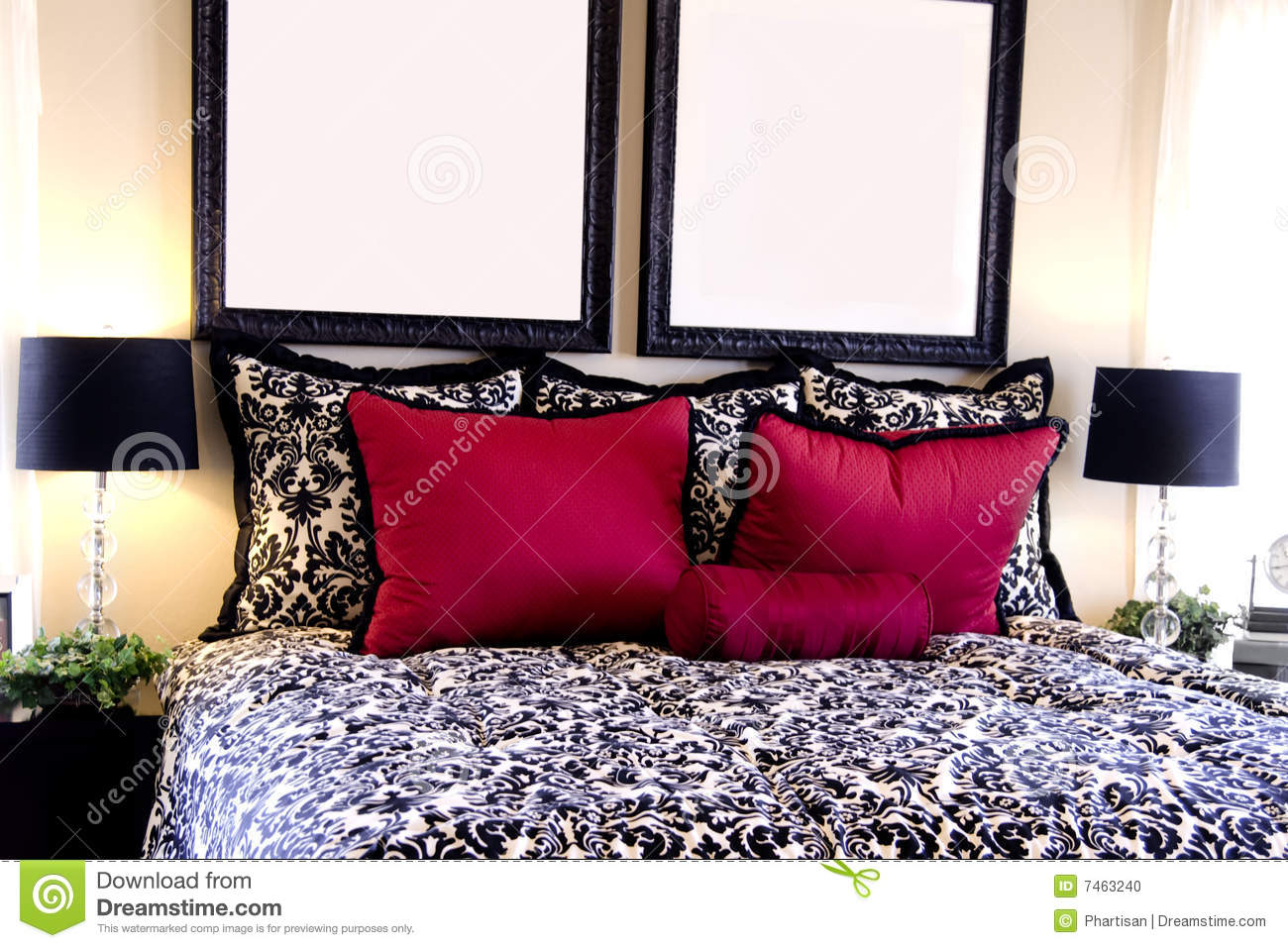 Beautiful bedroom interior design stock photo image 7463240 for Beautiful bedroom interior