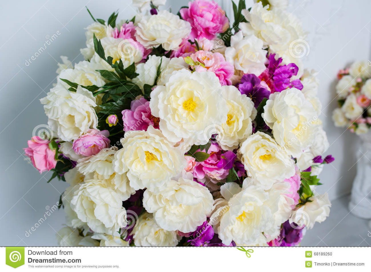 Beautiful and big bouquet of flowers on the wall background stock royalty free stock photo download beautiful and big bouquet of flowers dhlflorist Gallery