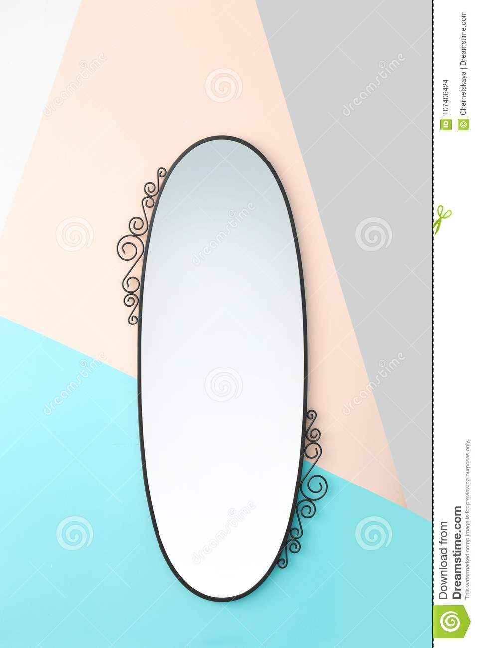 Beautiful big mirror on wall