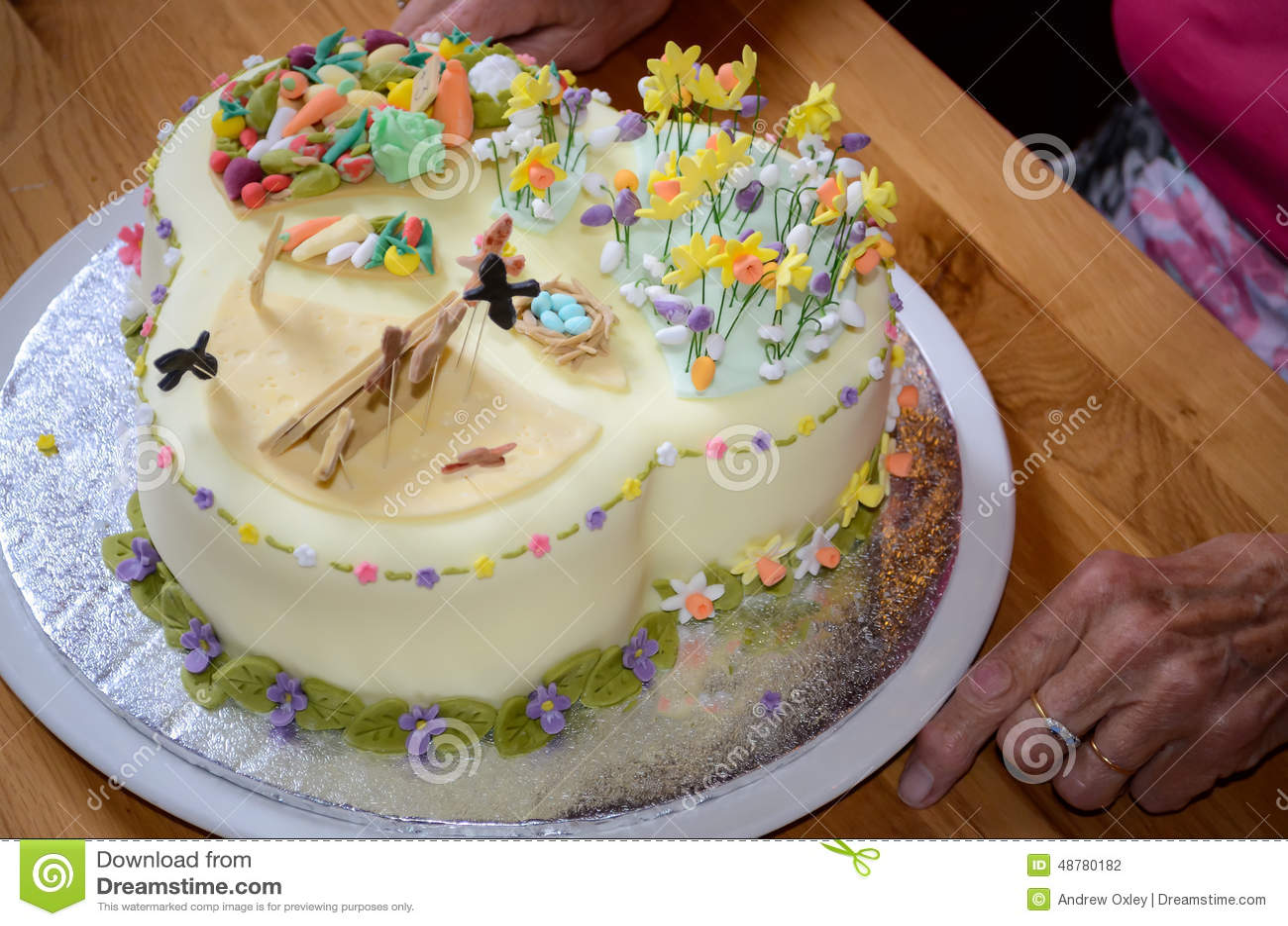 Beautiful Birthday Cake Stock Photo Image Of Elderly 48780182