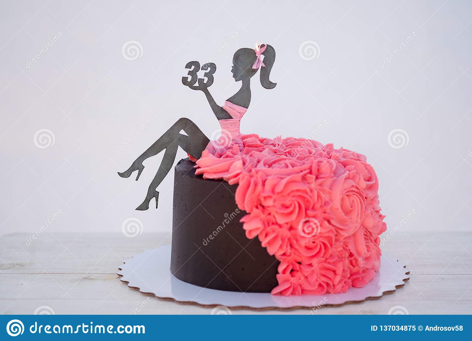 Amazing Beautiful Birthday Cake With A Figure Of A Woman And The Number Funny Birthday Cards Online Aeocydamsfinfo