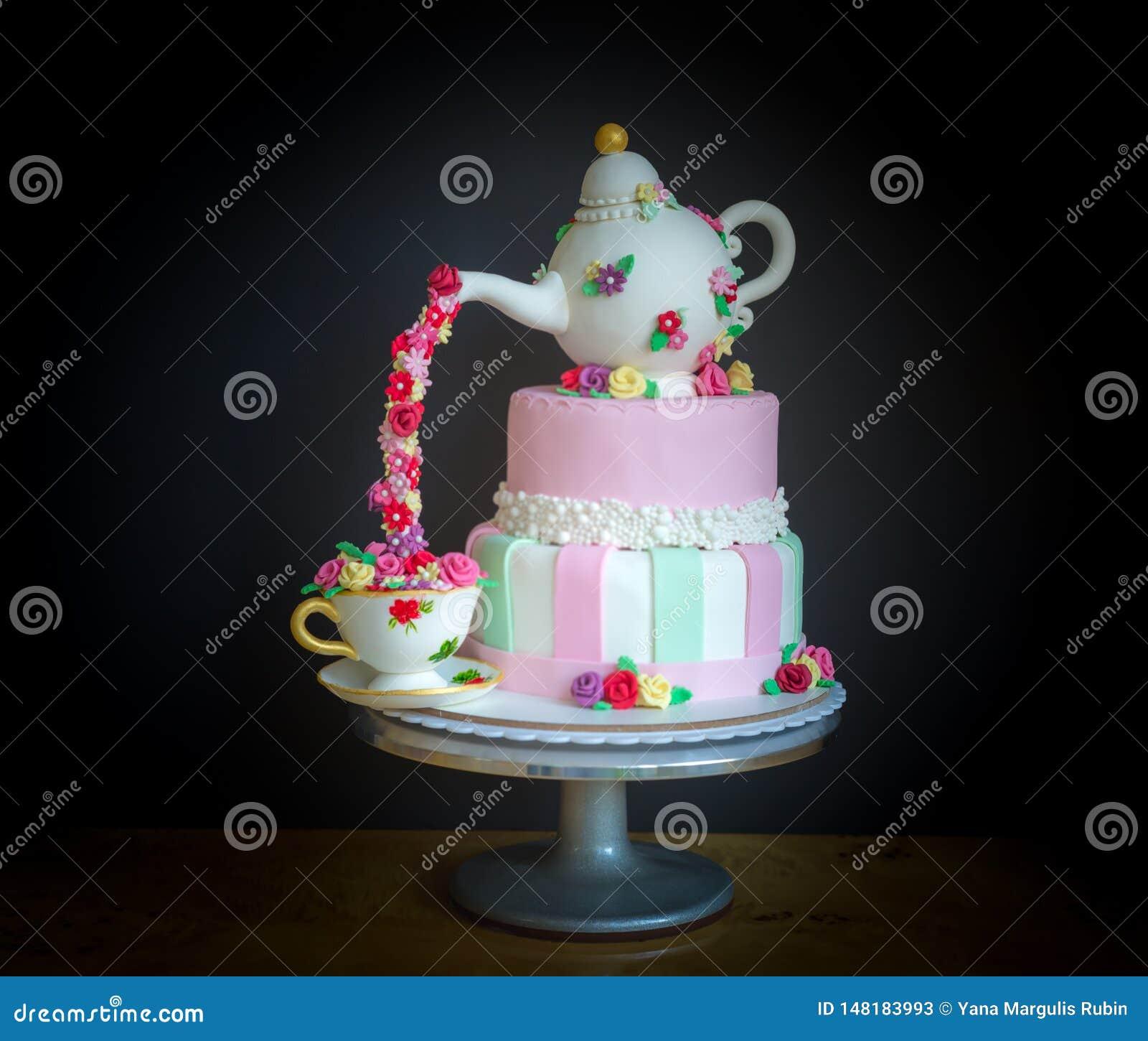 Super Beautiful Birthday Cake Stock Image Image Of Food Dark 148183993 Funny Birthday Cards Online Elaedamsfinfo