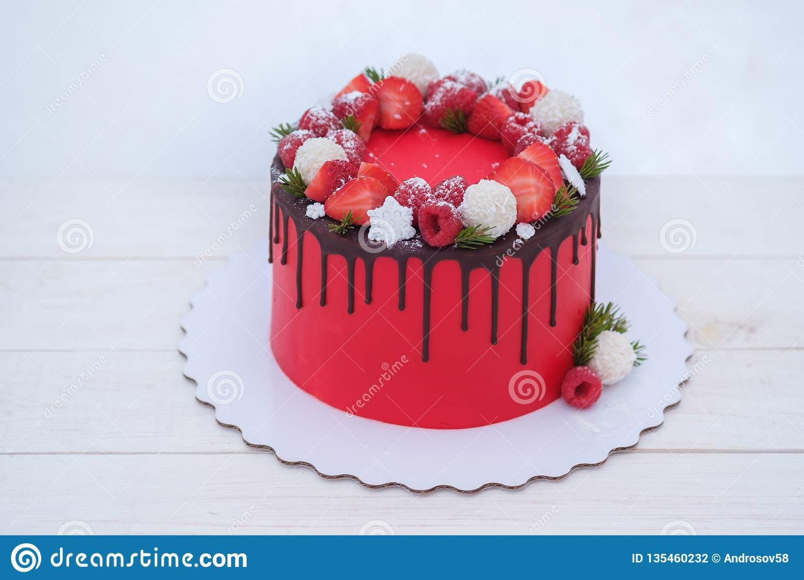 Awe Inspiring Beautiful Birthday Cake In Winter Style With Fir Branches And Funny Birthday Cards Online Eattedamsfinfo