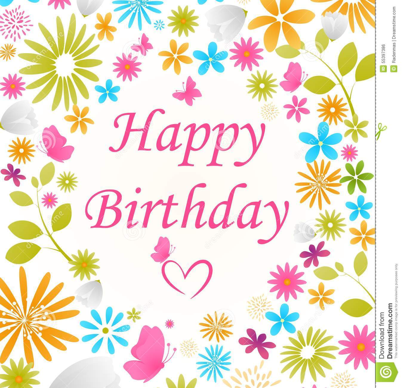 Beautiful Birthday Card Stock Vector - Image: 55397386